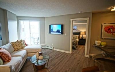 Two Bedroom -<br />Bedroom & Living Room