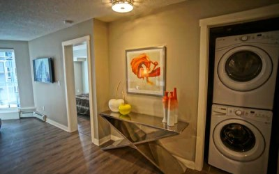 Two Bedroom -<br />Living Room & Washer-Dryer